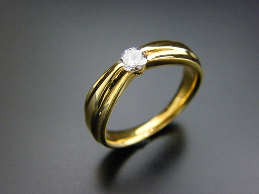 K18・ダイヤモンド リング