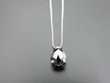 K18WG・ブラックダイヤモンド ペンダント