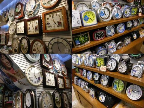 宝生堂 掛時計・めざまし時計売場